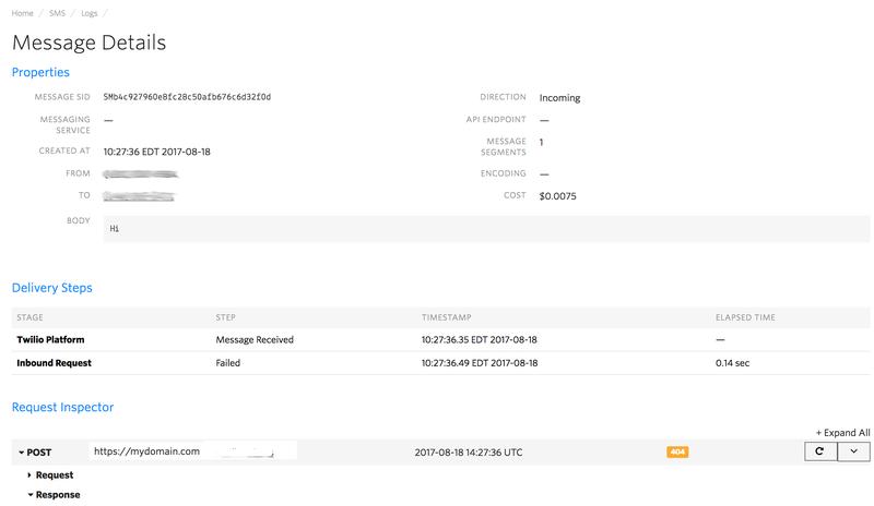 SMS Log Details