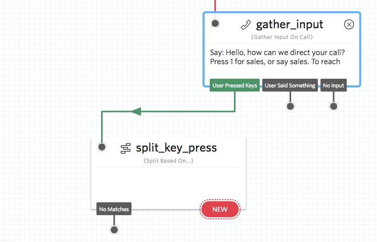 Split based on Key Press