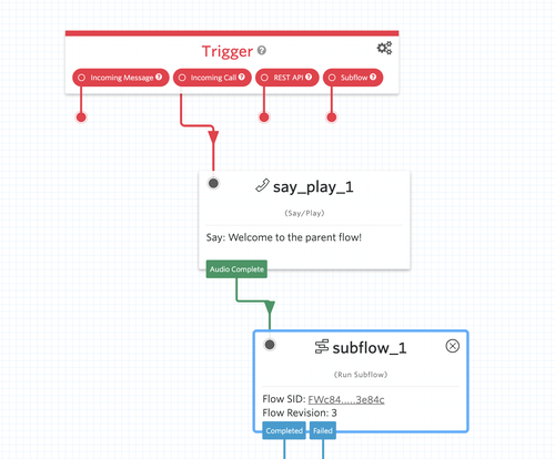 Studio Subflow widget example