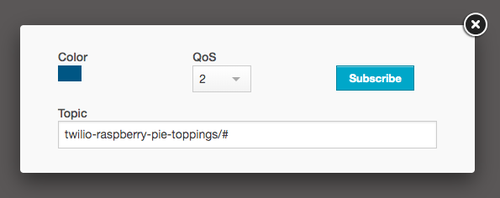 Subscribe to a MQTT Topic HiveMQ