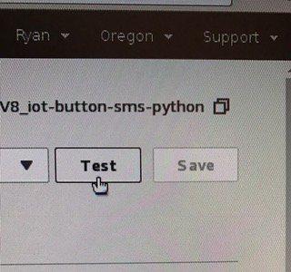 Lambda test event trigger button