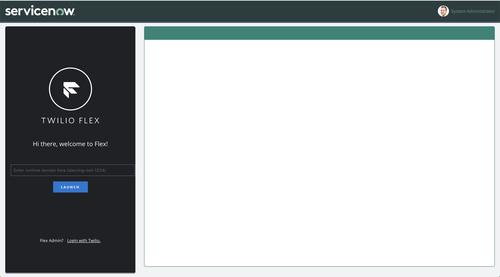 Interfaz Twilio Flex en funcionamiento