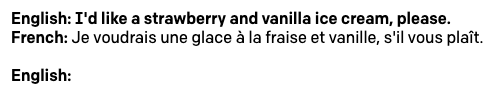 Demostración de inglés a francés