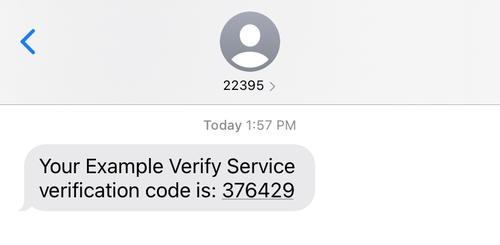 verification sms