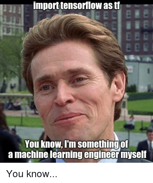 tf ml engineer meme