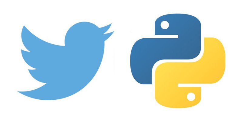 Twitter and Python logos