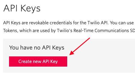 Criar API Key (chave de API)