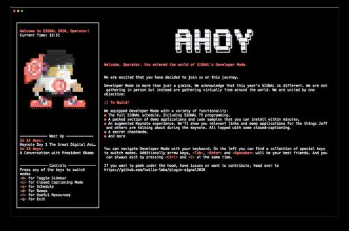 terminal screenshot of SIGNAL Developer Mode