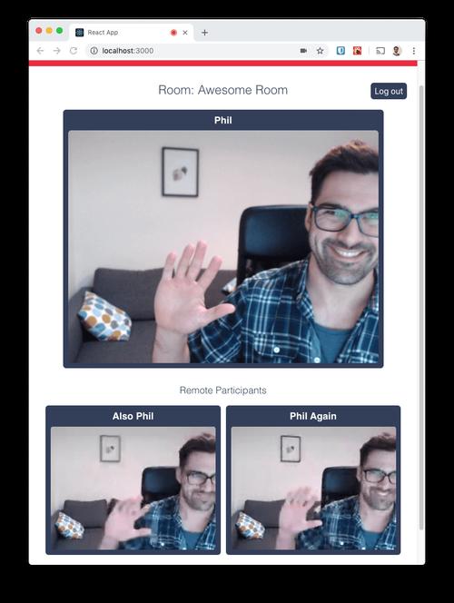 Sucesso! Agora você deve conseguir se ver em um chat por vídeo com você mesmo.