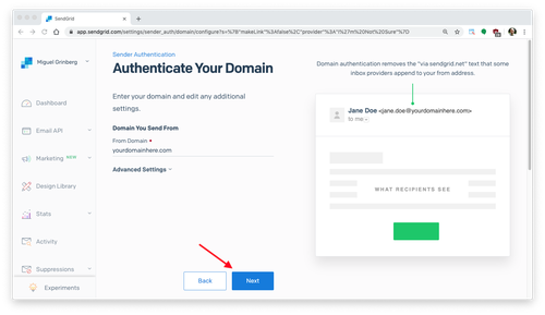 authenticate your domain