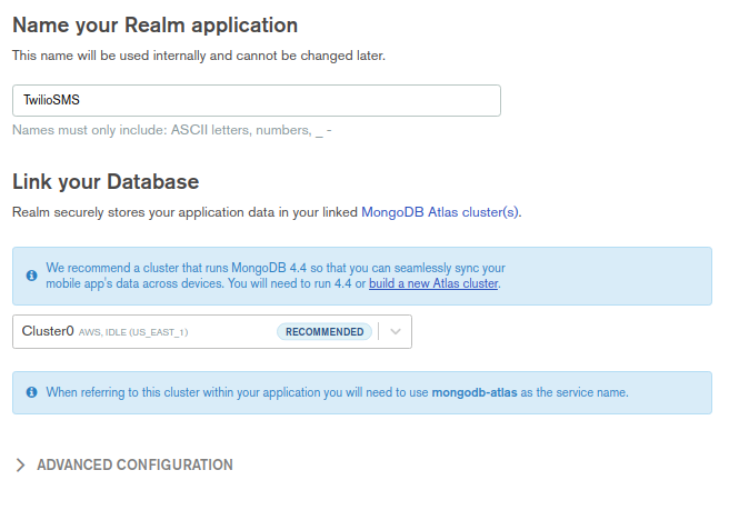 New Realm Application