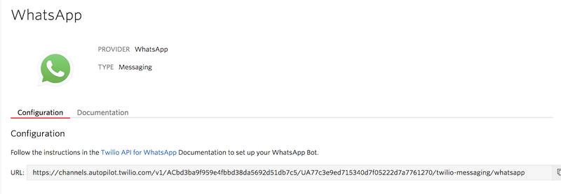 Selector de canal de WhatsApp para Autopilot