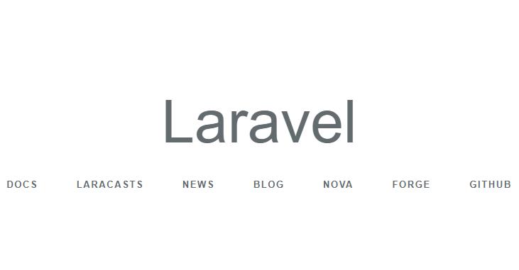 Laravel default landing