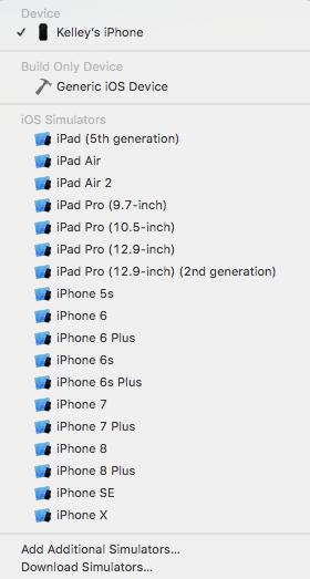 Liste des appareils