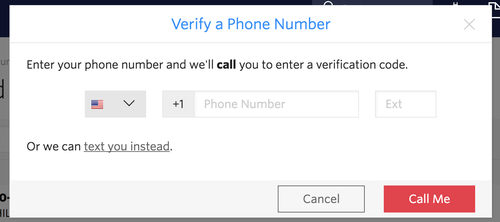 Verify a new phone number with Twilio