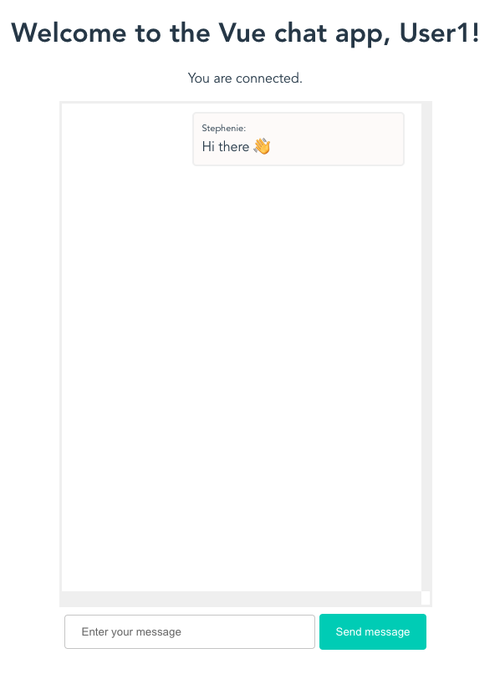 Message from first user showing in User1s window