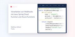 Verarbeiten von Webhooks mit Java, Spring Cloud Function und Azure Functions