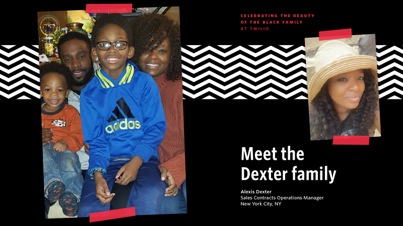 A picture of Alexis Dexter and her family