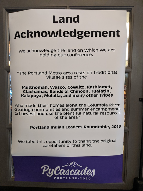PyCascades Land Acknowledgment