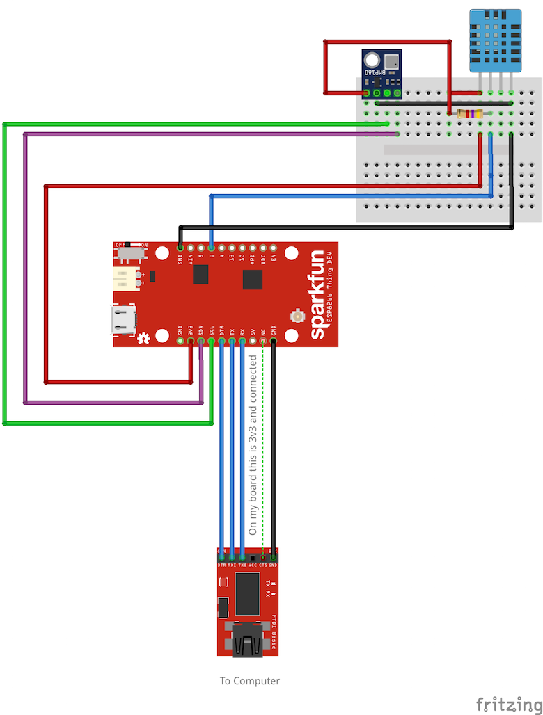 AWS Weather Station Breadboard
