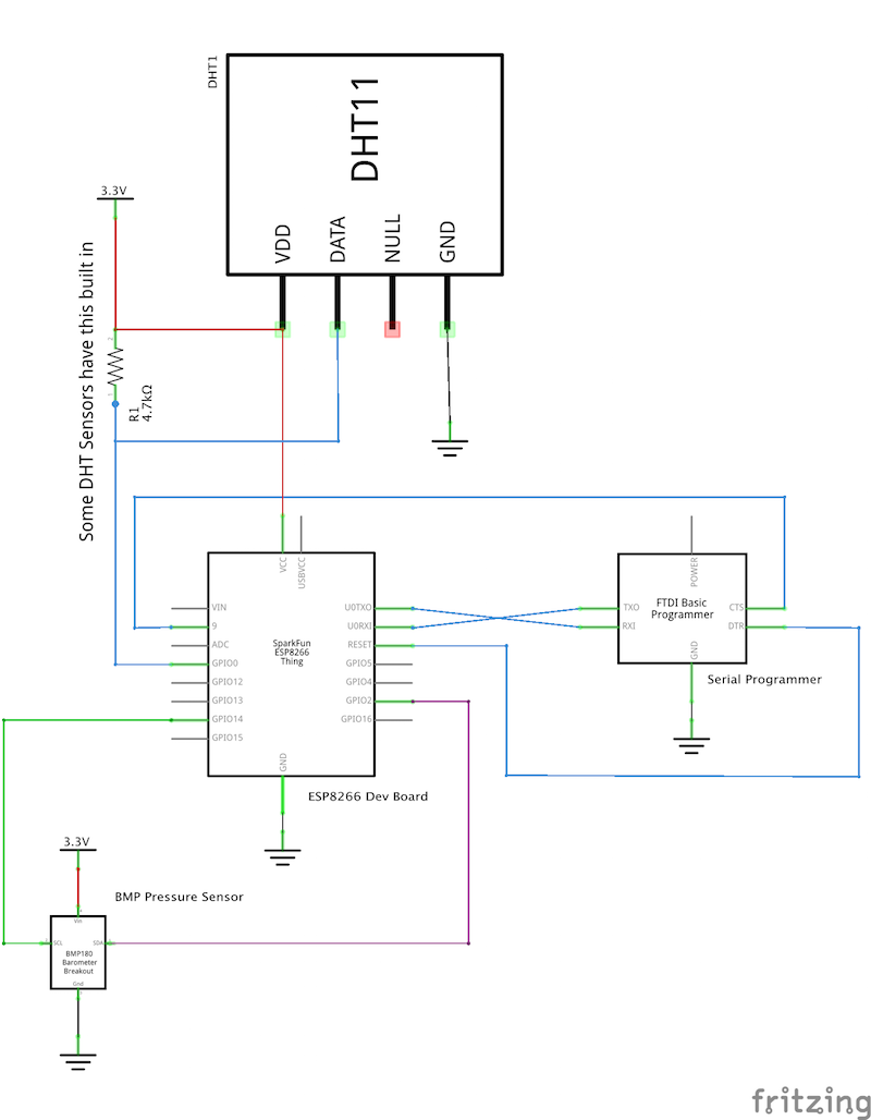 AWS Weather Station Schematic