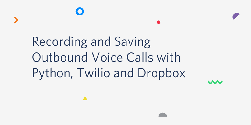 Recording and Saving Outbound Voice Calls with Python, Twilio and Dropbox