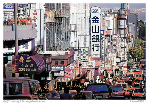 colorized output of B&W SF Chinatown photo