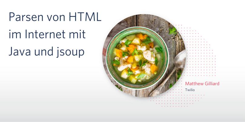 Parsen von HTML im Internet mit Java und jsoup