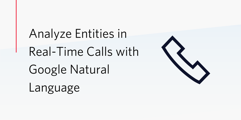 Analyze Entities in Real-time Calls