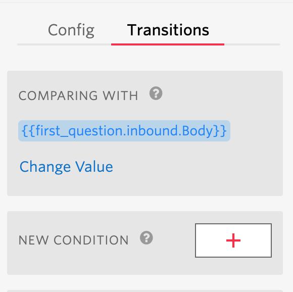 Transition tab