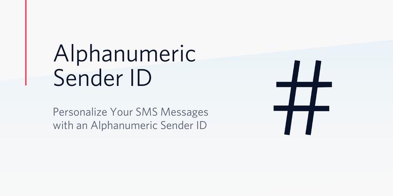 Alphanumeric Sender ID Header
