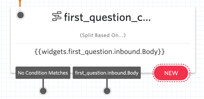 First question widget with new options