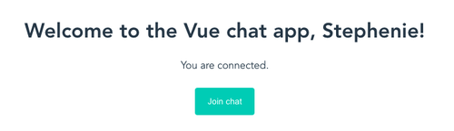 Chat app showing that the user is connected