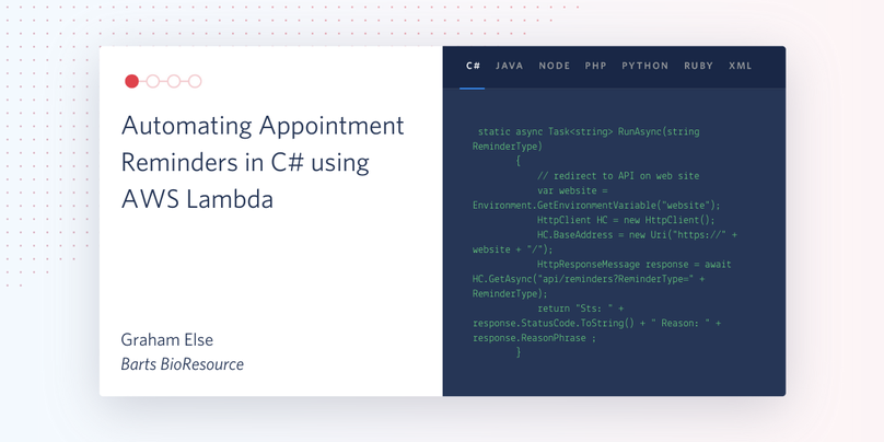 Appointment Reminders C# Lambda