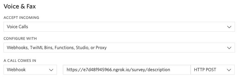 configure voice webhook