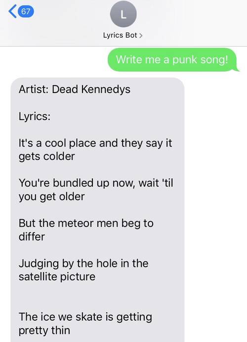 Computer-generated Smash Mouth song
