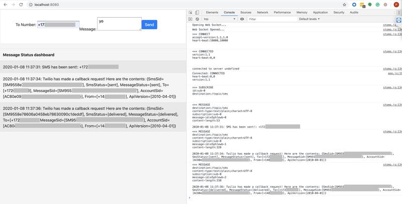 Pantalla en el navegador con ejemplo en ejecución de inspector de código