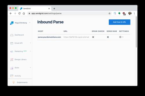 inbound parse configuration complete