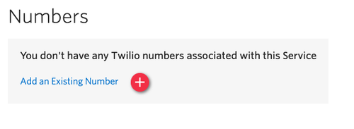 "Screenshot of a ""Number"" dialogue prompting the user to associate a Twilio number with the Default Conversations Service."