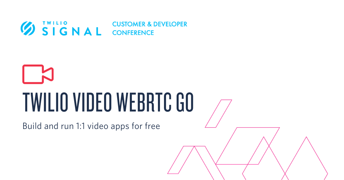 Build and run 1:1 video apps for free with Twilio Video WebRTC Go - Twilio