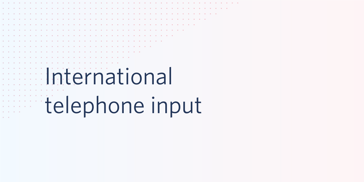 International Telephone Input + Twilio