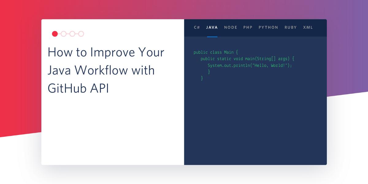 How to Improve Your Java Workflow with GitHub API - Twilio