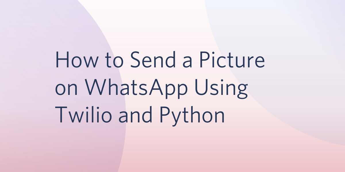 How to Send a Picture on WhatsApp Using Twilio and Python