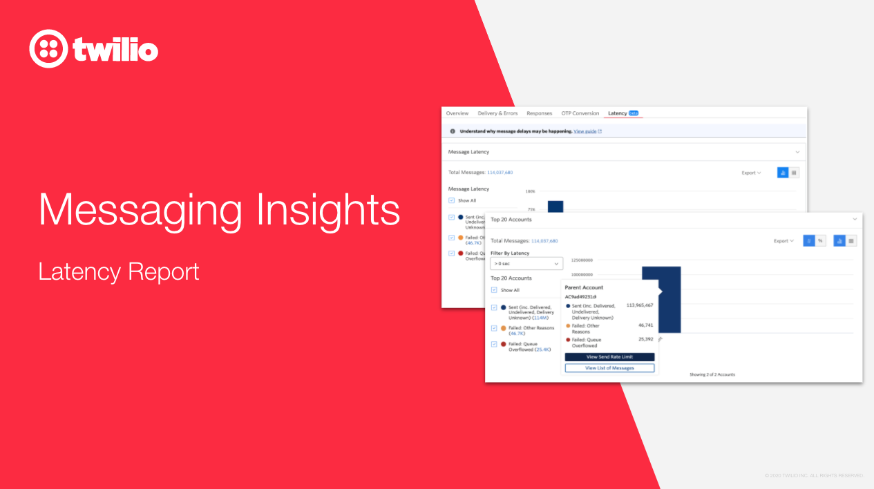 The New Latency Report in Messaging Insights - Twilio