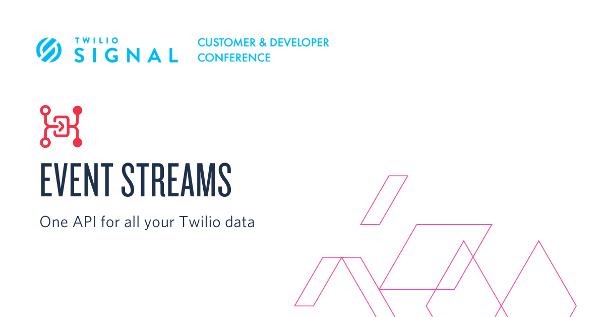 A single integration for all your Twilio data with Event Streams - Twilio