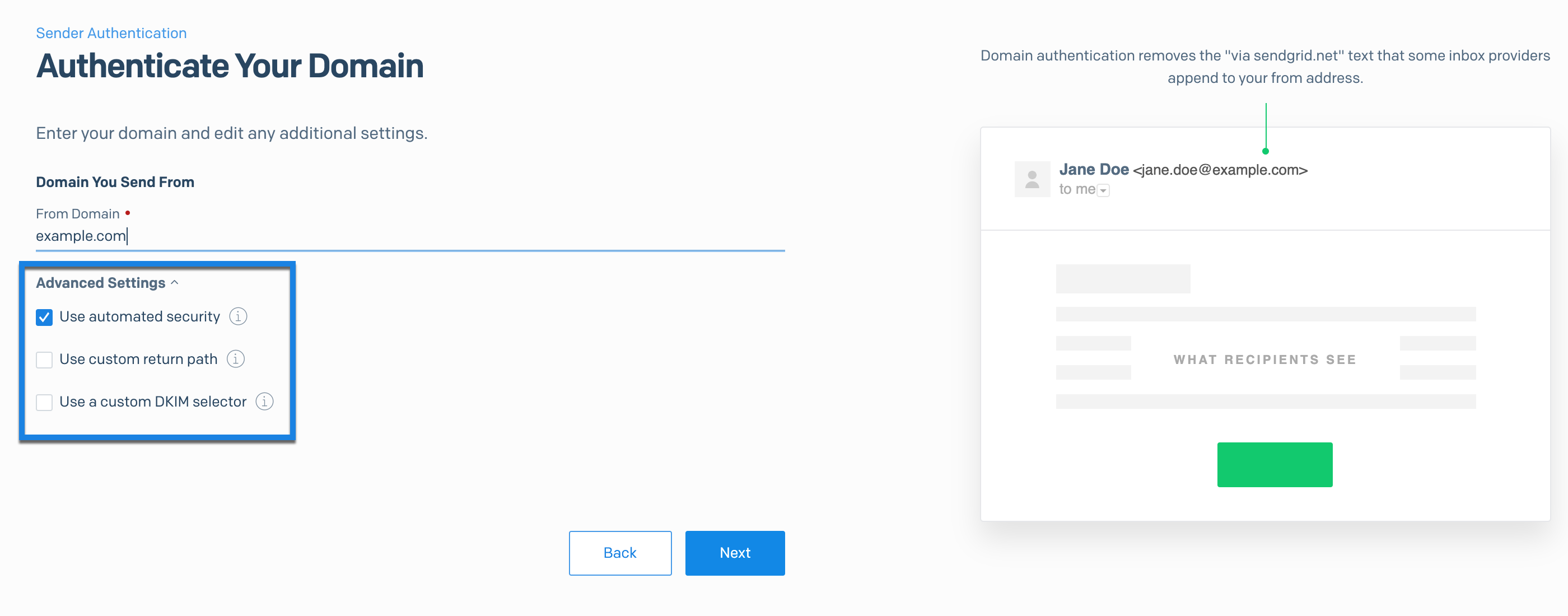 Domain Authentication Automated Security