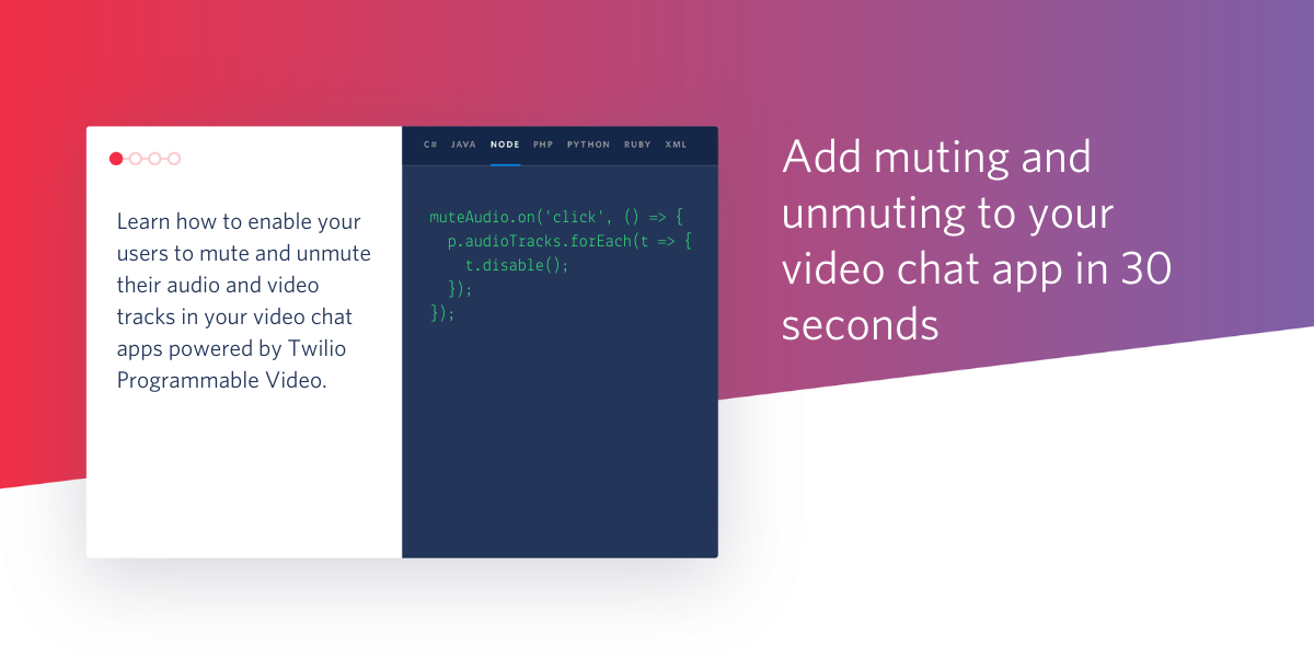 Add Muting and Unmuting to Your Video Chat App in 30 Seconds - Twilio